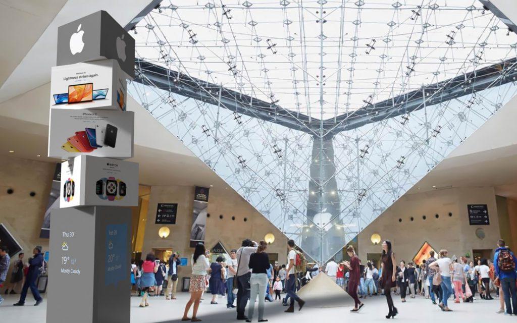 Transforming indoor digital signboards and billboards